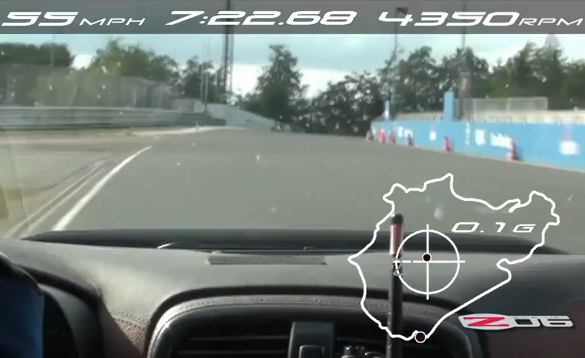 [VIDEO] Corvette Z06 Laps Nurburgring in 7:22.68