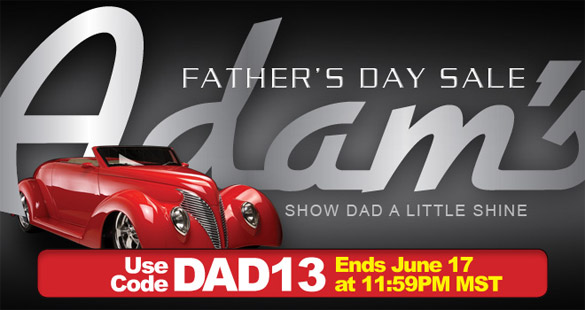 Save 10% at Adam's Polishes During the 2013 Father's Day Sale