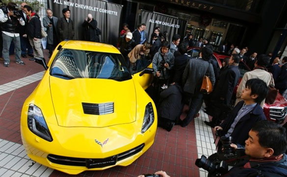 [VIDEO] 2014 Corvette Stingray is Unveiled in Japan