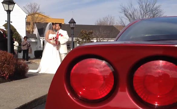 Tennessee Couple Say I Do at Corvette-themed Wedding