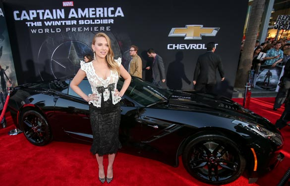 [VIDEO] Black Widow's Corvette Stingray at the Premiere of Captain America: The Winter Soldier