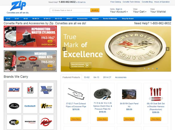 Zip Corvette Launches Newly Redesigned Website for Corvette Parts and Accessories