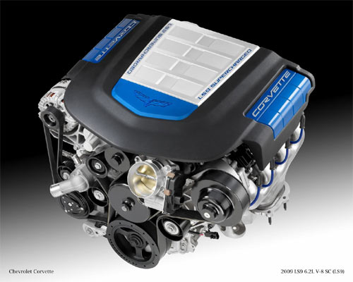 The 2009 LS9 6.2L V8 will power the new Corvette ZR1