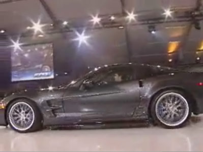 2009 Corvette ZR1 with Jeff Gordon Driving
