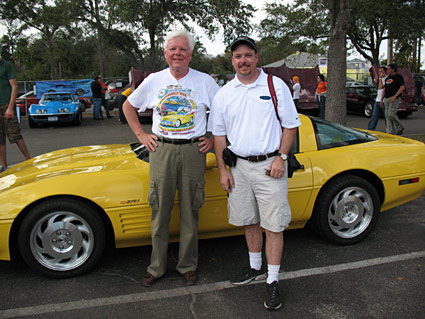 Former Corvette Chief Engineer Dave McLellan with CorvetteBlogger.com's Keith Cornett
