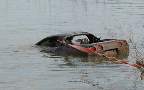 Stolen C6 Corvette Sent to Watery Grave