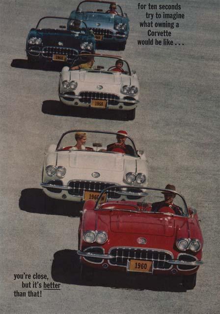 Vintage 1960 Corvette Poster