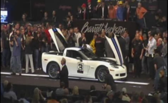 [VIDEO] Barrett-Jackson 2011: 2011 Le Mans Anniversary Corvette Z06 Sells for $210,000