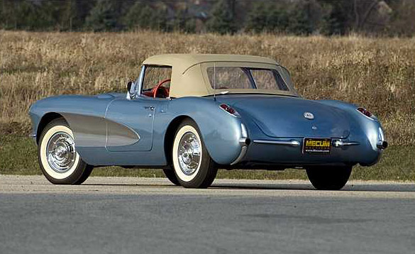 Mecum Kissimmee 2011 Preview: 1956 Arctic Blue Corvette Roadster