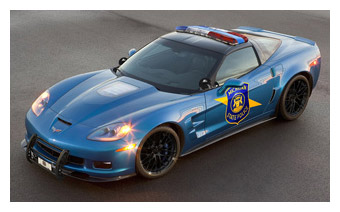 2009 Corvette ZR1 Michigan State Police Car