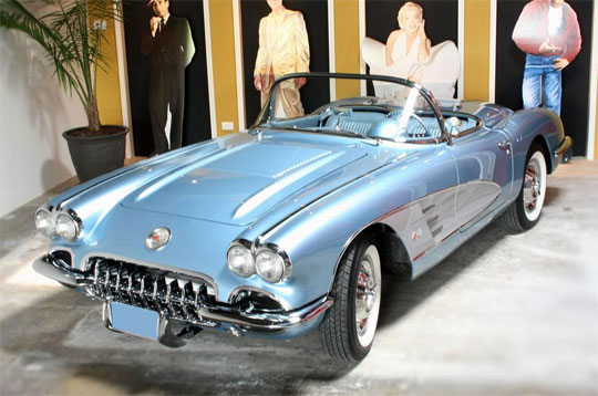 1958 Silver Blue Corvette sold at 2010's Barrett-Jackson Auction for $220,000