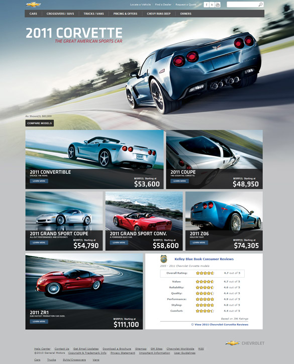 GM Unveils New Website and Videos for 2011 Corvette