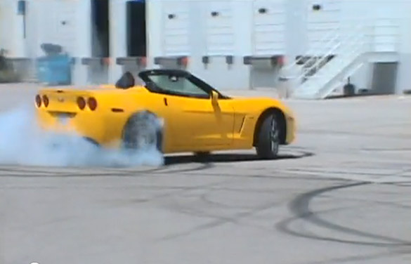Man Teaches Daughter How To Do Donuts In A Corvette ZHZ