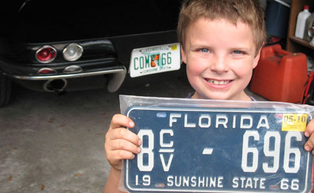 My 1966 Corvette Gets a Valentine Treat: A YOM License Plate