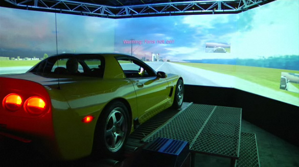 [VIDEO] Jay Leno Puts His Corvette Z06 on Real Car Simulator