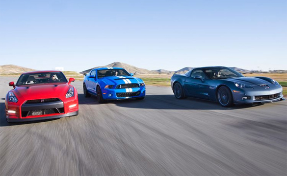 [VIDEO] Corvette Z06 vs GT500 vs GT-R: Motor Trend's 5-Figure Supercar Shootout