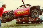 The wreck at Road Atlanta in 1982