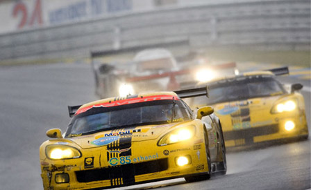 The Corvette C6.Rs at Le Mans