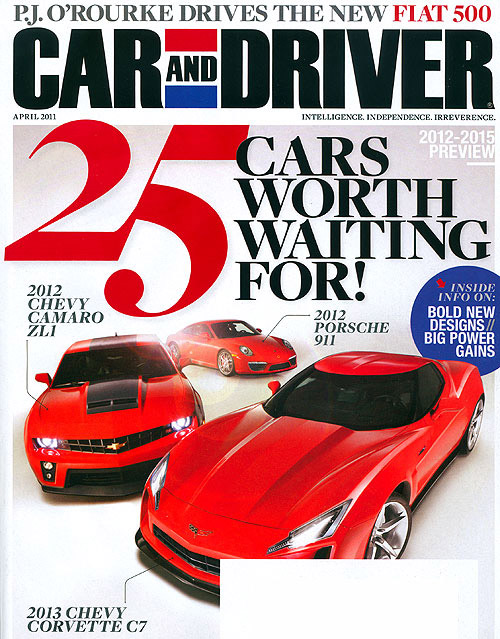 April 2011 Car and Driver Mag Fuels C7 Transformers Corvette Speculati
