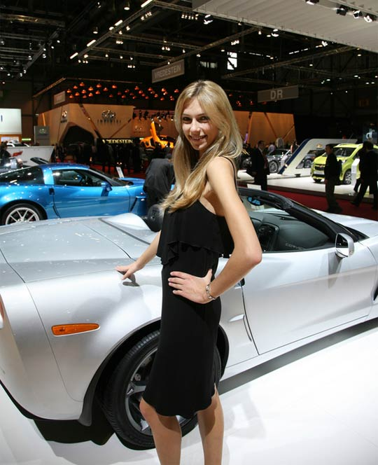 Corvettes on Display at the Geneva Motor Show