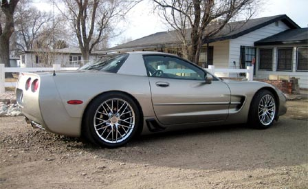 Replica Corvette ZR1 Wheels on a C5 Z06
