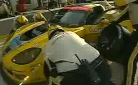 Corvette Racing's #3 C6.R Takes a Daytime Pit Stop