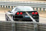 The Corvette SS at a Detroit-area test track