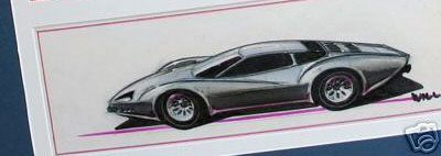 Mid-engine Corvette Sketch from GM Styling