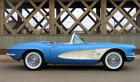 1961 Jewel Blue Corvette