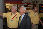 National Corvette Museum Executive Director Wendell Strode shows Kentucky Governor Steve Beshear the new Corvette Boulevard.