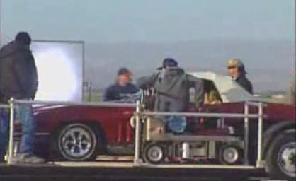 Corvette Sting Ray on Location for Star Trek Movie Shoot