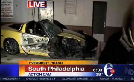 Hertz Corvette ZHZ Slams Into 8 Cars in Philadelphia