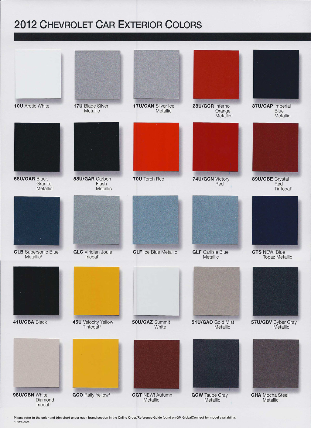 2014 Chevrolet Color Chart.html | Autos Weblog