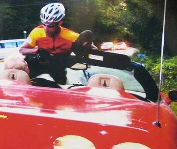 Caption Contest: Corvette vs Bicyclist