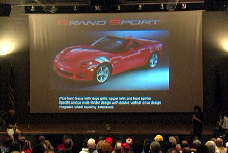 Introduction and Reveal of the 2010 Corvette Grand Sport at the NCM