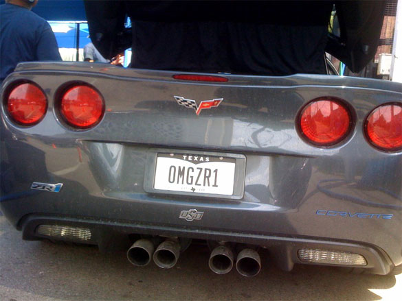 Totally Awesome Corvette ZR1 License Plate
