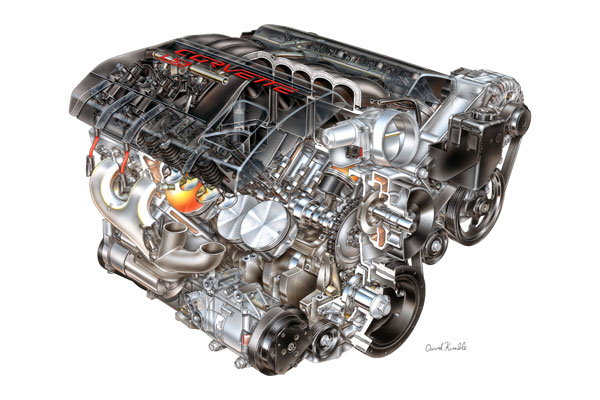 The Heart of the Beast: The 2008 Corvette's LS3 6 2L V8
