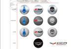 Genuine Corvette Accessories to Offer New Center Caps for 2012
