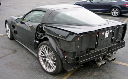 Wrecked 2009 Corvette ZR1 for Sale on eBay