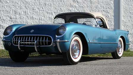A Pennant Blue 1955 Corvette Roadster