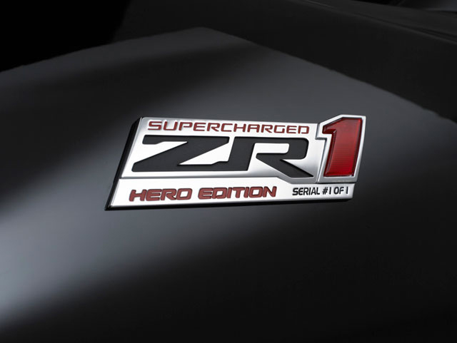 Special 1 Of 1 Hero Edition Corvette Zr1 Built For Kids Wish
