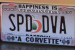 Corvette Vanity License Plates from the NCM's C5/C6 Bash