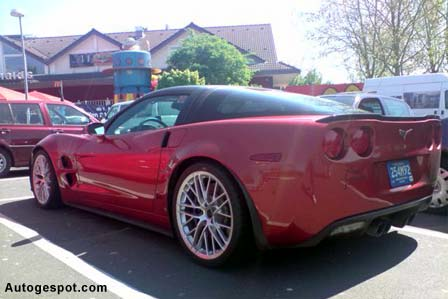 The Corvette ZR1 at a German McDonalds