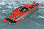 Split Window inspired Corvette Speed Boat