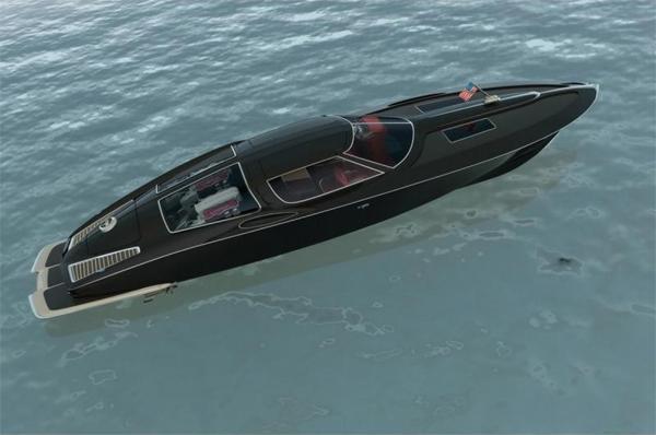 Split Window Corvette >> Speed Boat Design Inspired by 1963 Split-Window Corvette ...
