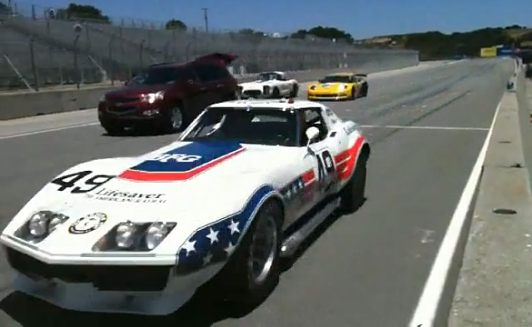 Historic Le Mans Corvette Racers at Laguna Seca