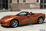 Patrick Dempsey with the Indy 500 Corvette Pace Car