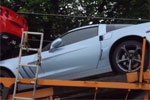 New Carlisle Blue Corvette Spotted on Car Hauler