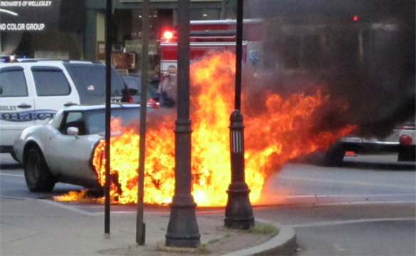 1979 Corvette Burns in Boston