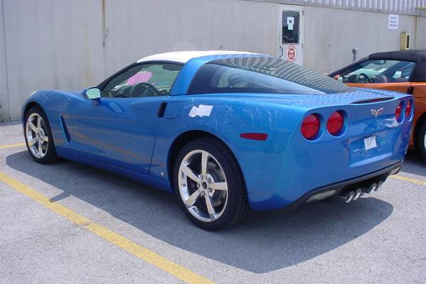 2008 Corvette In Jetstream Blue Metallic